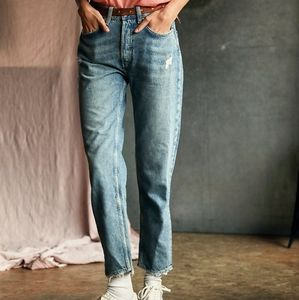 NWT Free People Fast Times High Rise Mom Jeans 28